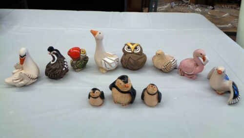 Artesania Rinconada Bird Figurine Lot 11 Pieces