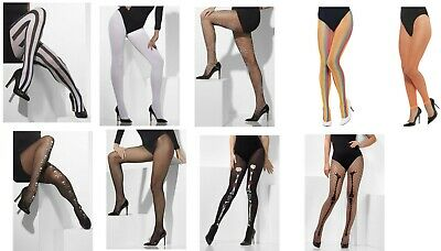 Women's Opaque Tights Fishnet Hold Ups Fancy Dress Accessory Hosiery Hen Theme ](1980s Themed Halloween Costumes)