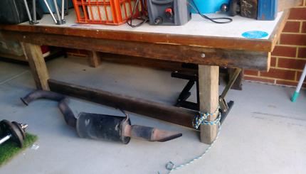 Wooden work bench jarrah!!