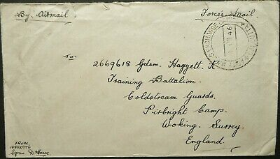 INDIA 1946 FORCES AIRMAIL COVER FROM COLDSTREAM GUARDS, CALCUTTA TO ENGLAND