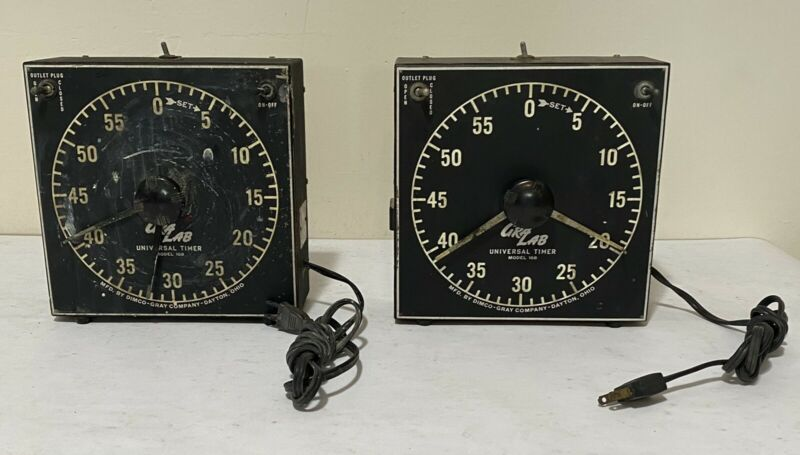 GraLab Model 168 Universal Timer Plug Electric Wall Mount Tabletop Dimco Gray Co