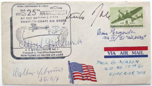 Luftwaffe WW II Aces Rall, Schuck, Grislawski, Heinz 700 Victories Signed Cover