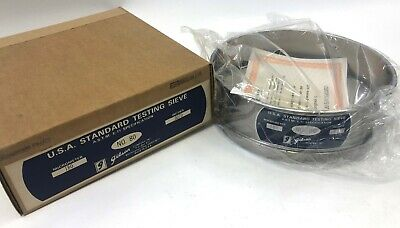 New Gibson Stainless Steel Usa Standard Astm E-11 180 Micrometer Testing Sieve