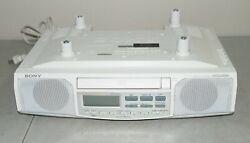 SONY #ICF-CD513 Under Cabinet Counter CLOCK RADIO AM/ FM/ CD Player w/ HARDWARE!