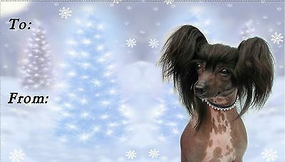 Chinese Crested Christmas Labels by Starprint - No 2