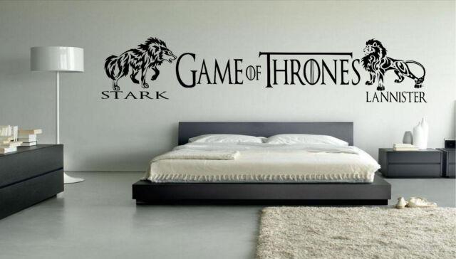 Game Of Thrones Custom Vinyl Wall Art Decal Boys Girls Bedroom Stickers