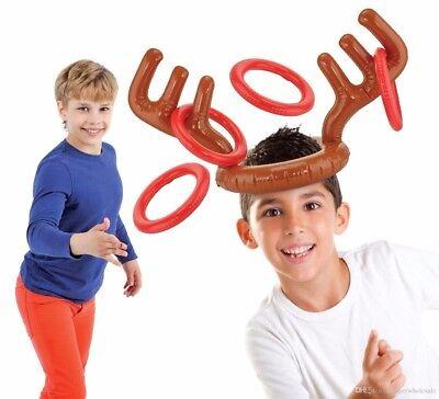Inflatable Elk Horn Toys Deer Head Shape Kids Moose Antlers Ferrule Game Set - Inflatable Moose Head