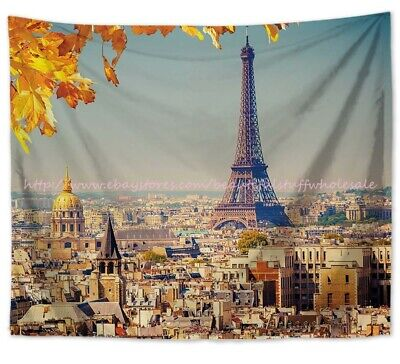 US SELLER -Eiffel Tower Paris France wall hanging tapestry home wall decor ideas