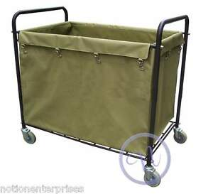 Housekeeping Laundry Hamper Bulk Truck / Linen Trolley Cart