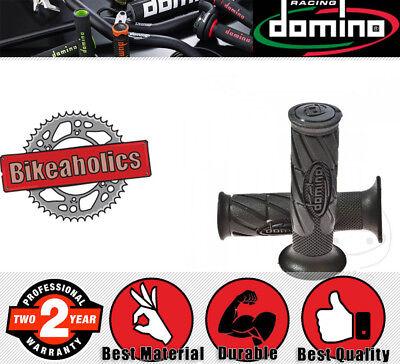 DOMINO HANDLE BAR GRIP SET   22X120MM   CLOSED   BLACK FOR <em>YAMAHA</em> XS