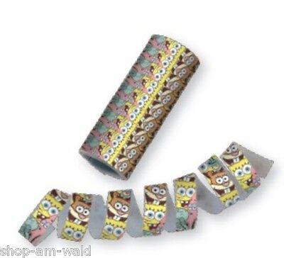 SpongeBob Schwammkopf Kindergeburtstag Party Sponge Bob Luftschlangen - 1 Rolle
