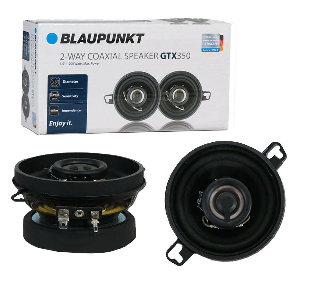 "Blaupunkt GTX350 3.5"" 2-WAY 200W MAX Power Car Audio Coaxial"
