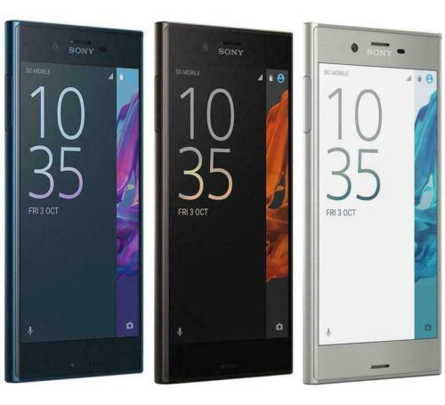 Android Phone - New Sony Xperia XZ F8331 32GB (Unlocked) LTE Smartphone Black/Platinum/Blue