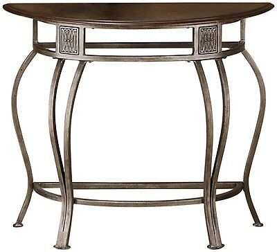- Hillsdale 41547 Montello Console Table Old Steel finish wih wood op  NEW