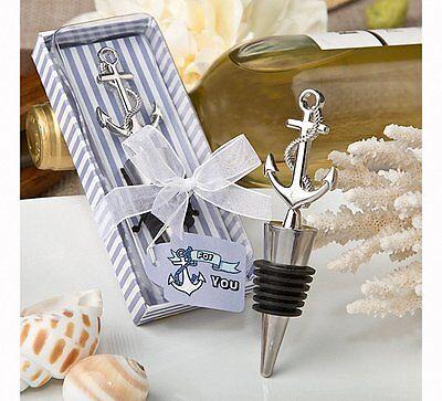 1 Nautical Themed Anchor Anniversary Birthday Wedding Wine Bottle Stopper