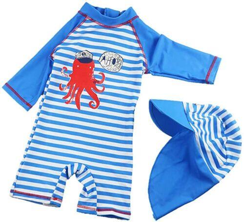 Baby Boys Two Piece Swimsuit Rashguard Sun Protection Swimwear Tag S / 9-12 M
