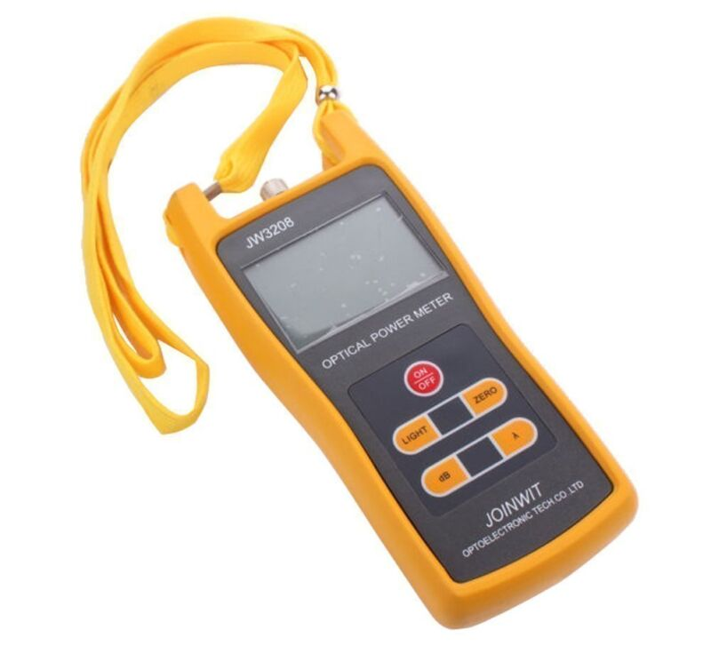 -50 to +26dBm 800~1700nm Optical Power Meter Tester FC SC ST Light Source US