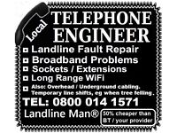 Telephone Engineer Malvern - Landline & Broadband Fault Repair in Malvern - Malvern Phone Engineer