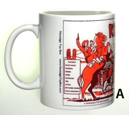 Ceramic mug featuring Marx Roy Rogers Play Sets