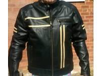 Retro style biker jacket.