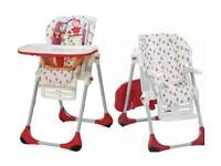 Chicco polly adjustable reclining highchair in happyland
