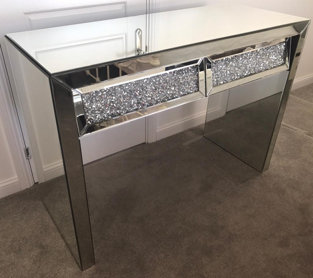 Mirrored Console Tablesin Plymouth, DevonGumtree - Hello ☺ I am selling two brand new mirrored console tables. The first is an all mirrored table with two crushed diamond drawers, which I am selling for £250 (selling elsewhere for £429.99 as shown in picture) and the second is an all mirrored...