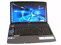 "18""4 ACER ASPIRE 8930 LAPTOP FOR GAMING AND GRAPHICS DESIGN OR MUSICS"