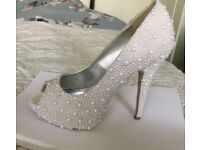 Bridal/Prom Custom made Shoes Size 5