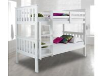 💗💥💗LIMITED STOCK AVAILABLE💗💥BRAND NEW 3FT ATLANTIS WHITE WOODEN CONVERTIBLE BUNK BED & MATTRESS