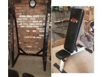 York Incline Bench + Marcy Squat Rack / Bench Press SR50 Heavy Duty £50 each