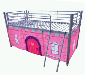 Girls metal tent bed