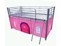 Girls metal tent bed