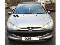 Peugeot 206 for sale, MOT, drives very well, cheap.