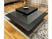 Sleek Black Coffee Table