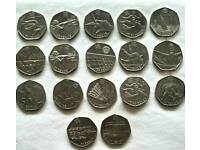 Rare 50p and £2 olympic games