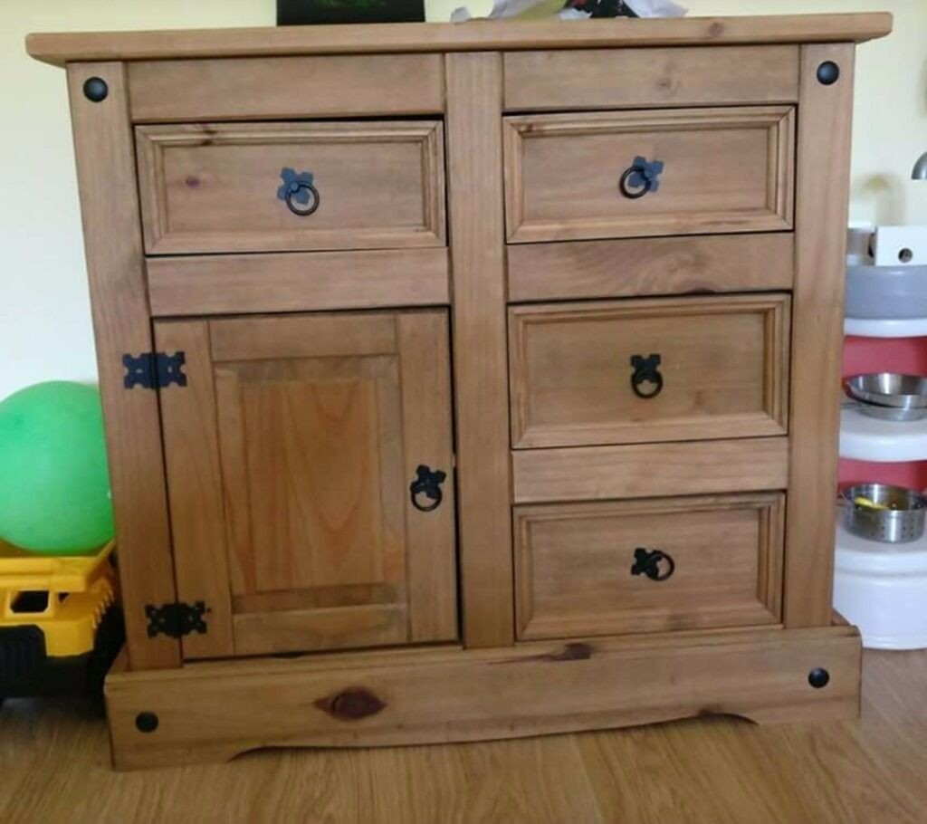 Pine Wood Set Sideboard Bookshelf Dresser