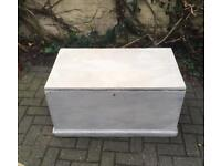 Wooden Painted Storage/Blanket Box