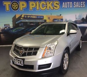 2011 Cadillac SRX AWD, V6, LEATHER, PANORAMIC SUNROOF, AND MORE!