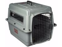 2 x dog pet travel airline crates pet mate voyager and vari kennel pet mate travel airport crates