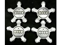 Genuine Audi centre caps, set of 4.