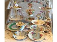 BEAUTIFUL VINTAGE CHINA CAKE STANDS £7 ~ £15 EACH