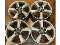 Seat Ibiza 16 inch Alloy Wheels 5 x 100 Genuine 7J et43 6p 6j MK4