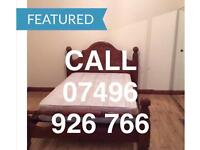 STUNNING LARGE CLEAN KING SIZE DOUBLE ROOM & VERY LARGE SINGLE ROOM TO LET NEAR STATION