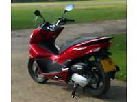 Honda PCX 125cc Sienna Red Scooter 2015 - low mileage