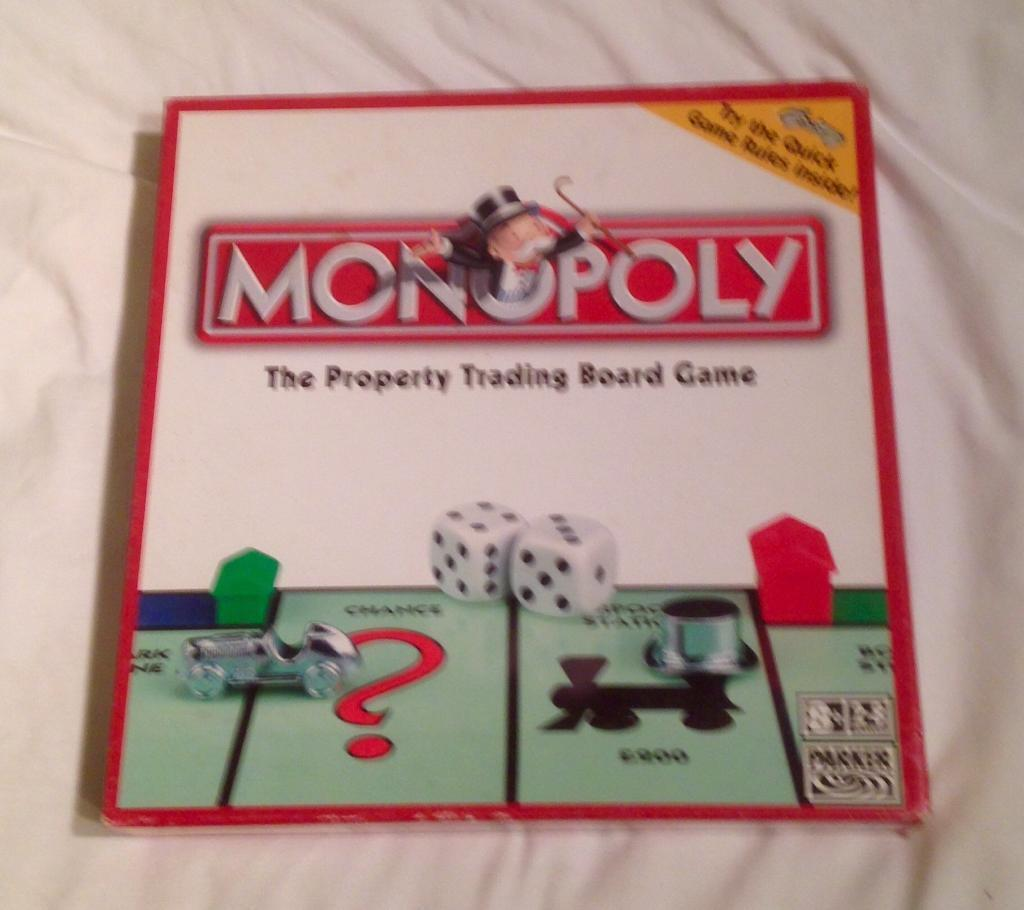 MONOPOLY 2006 QUICK RULES BOARD GAME BY PARKER. COMPLETE. 9 TOKENS. VGC.