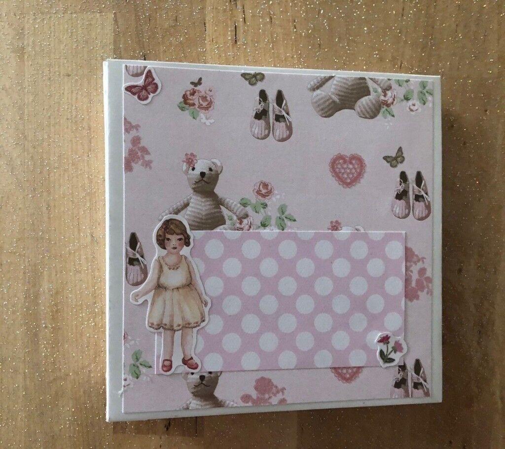 Handmade Scrapbook Photo Album First Year Baby Book Baby Girl