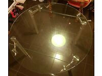 Glass extendable Dining Room Table (Barker&Stonehouse)