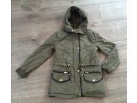 Girls Newlook Khaki Coat Age 8-9