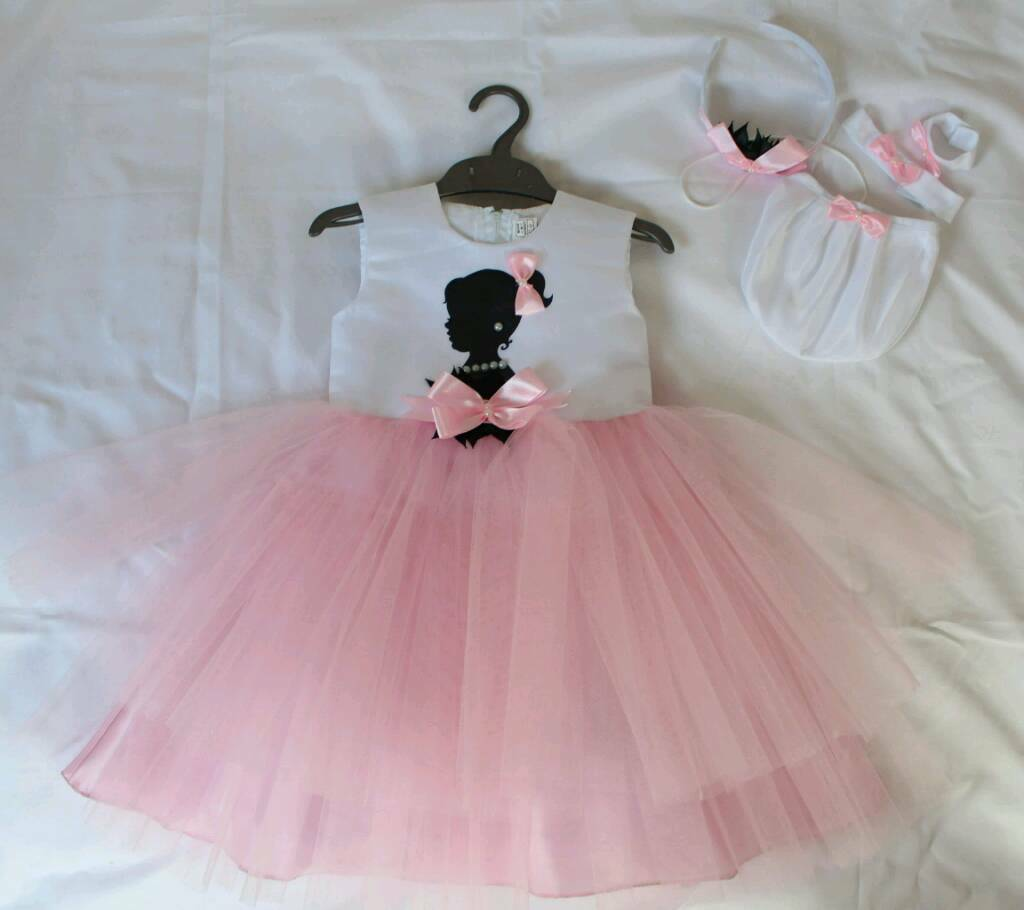 BRAND NEW Girl's Party Dress + Accessories,