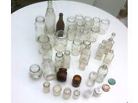 Vintage Glass bottles and jars